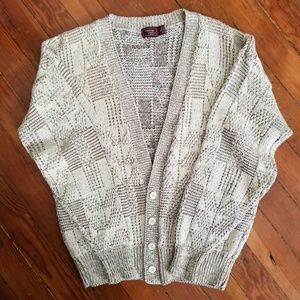 Vtg Mens Cotton Cardigan